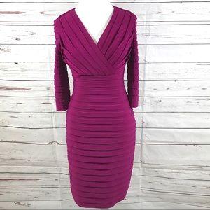 Adrianna Papell Sheath Dress Purple Size 6